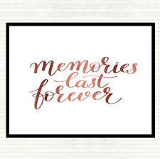 Rose Gold Memories Last Forever Quote Mouse Mat Pad
