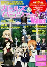 Girls und Panzer Walker Japan Anime Art Book plus 6 Badge Set NEW F/S