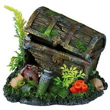 Trixie Treasure Chest Aquarium Fish Tank Decoration Ornament with Plants - 17 cm