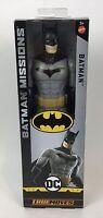 "Mattel DC Heroes Batman Missions True-Moves Batman-Grey 12"" inch Action Figure"
