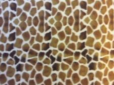 "Honey brown Giraffe animal print fleece fabric, 60"" wide, sold BTY"