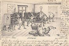 """Postamt, Post, """"Abfertigung"""", Zwerge, Verlag Starkloff in Meiningen, 1902"""