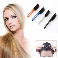 New Girls Travel Folding Hair Brush With Mirror Pocket Size Comb Handbag Size