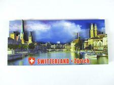 Zurich 3 D Bois Souvenir Deluxe Aimant Suisse Suisse Neuf