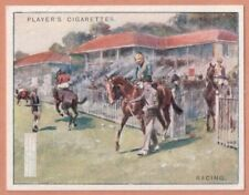 Flat Racing Thoroughbreed Horse Sport 1930s Ad Trade Card