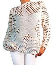 Grobe Damen-Pullover & Strickware mit Langarm-Ärmelart aus Acryl ohne Verschluss