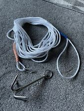 Grappling Hook 200mm 430g Stainless Steel Mooring Climbing Survival With Rope .