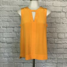 Tibi Size 4 Silk Blouse Yellow Sleeveless