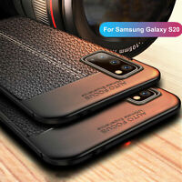 For Samsung Galaxy S20 Ultra S20 Plus S20+ Slim Rubber Leather Soft Case Cover