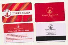 ROYAL LAHAINA RESORT + Towel Card------Hawaii----Room key------K-15