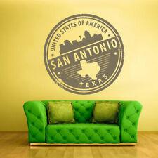 Wall Decal Vinyl Sticker Decals San Antonio Texas Stamp Travel (Z1294)