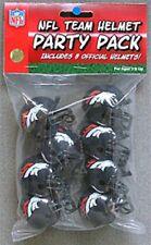 Denver Broncos 8 Pack NFL Riddell Gumball Team Helmet Novelty Party Pack