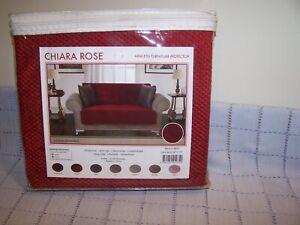 Chiara Rose Armless Furniture/Sofa  Protector Cover 60 x 70 Burgundy  Brand New