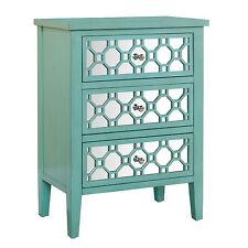 NEW Sauder Furniture 417136 Inspired Accents Seafoam Green Storage Accent Chest
