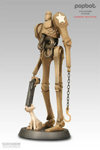 """SIDESHOW EXCLUSIVE AP POPBOT and KITTY 15"""" Tall POLYSTONE STATUE By Ashley Wood"""