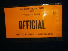 1978 THE GREAT DANBURY STATE FAIR VECHICLE PASS OFFICIAL