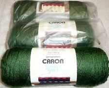 Caron Simply Soft Yarn Lot of 3 Skeins DARK SAGE #4 Medium 100% Acrylic