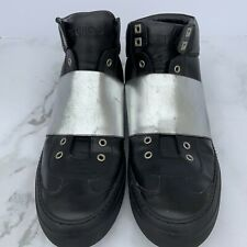 Jimmy Choo Archie Black Silver High Top Sneakers Men's Size 45 US 11