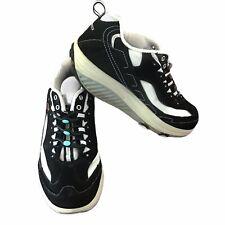 Sketchers Shape Ups Womens Black White Toning Comfort Walking Shoes 6.5 Laceless