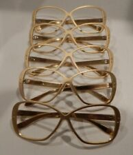 Vintage 5 Pc. Lot All Aluminum 9714 Matte Gold 57/18 Eyeglass Frame Nos
