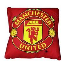 Manchester United Crest Cushion - Red 37x 37cm Microfibre With Big Club Logo