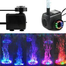 220-240V 15W LED Light Powerful Submersible Water Pump Aquarium Fish Tank Decor