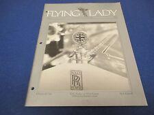 The Flying Lady Rolls-Royce, Magazine Nov/Dec 1986, RR Badge on Silver Ghost