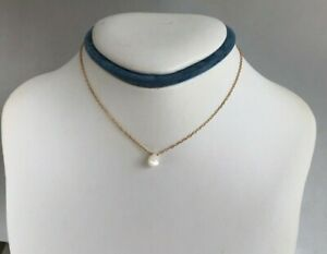Teardrop Necklace Natural Shining White Color  Shell Gold Filled Chain Clasp