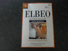 Elbeo Sheer Magic Medium Size 20 Denier Support Stockings TV Glamour Tranny Etc