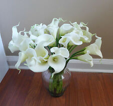 Artificial White Calla lily Flower Wedding Party Decoration (set of 24)