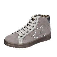 scarpe bambina DIDI BLU 33 EU sneakers beige camoscio AH126-E