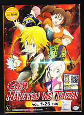 *NEW* THE SEVEN DEADLY SINS *26 EPISODES*ENGLISH SUBTITLES*ANIME DVD*US SELLER*