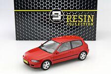 Honda Civic eg6 VTi Hatchback Année 1992 rouge 1:18 Triple 9