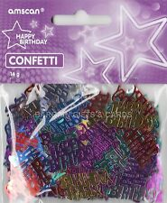 1 PACK HAPPY BIRTHDAY CONFETTI /  TABLE SPRINKLES MULTI COLOUR TABLE DECORATIONS