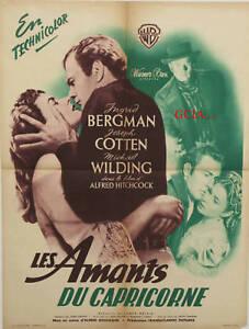 LES AMANTS du CAPRICORNE-I.BERGMAN-A.HITCHCOCK-1949-WB-on linen