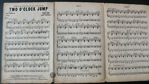 COUNT BASIE FUD LIVINGSTON TWO O'CLOCK JUMP PIANO CONDUCTOR SHEET MUSIC 1944 USA