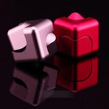 Metal Aluminum Cube Dice EDC Fidget Hand Finger Spinner Fingertips Gyro Toys
