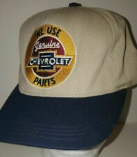 We Use Genuine Chevrolet Parts Cap Tan and Blue