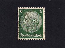 Germany Empire 1933 Paul von Hindenburg 6pfg Used (D4)
