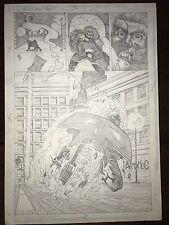 Morbious/Ghost Rider Unused Interior Comic Art By Craig Gilmore -Original - COA