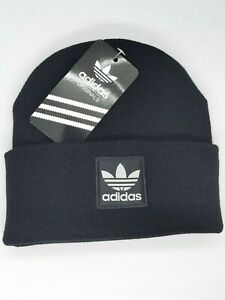 Beanie Winter Hat Adidas  Black Trefoil One Size Unisex Christmas Sale Free Post