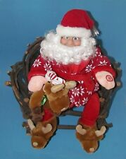 """Dillard's Unique Animated Santa Sings and moves Merry Christmas Song 18""""  L@@K"""