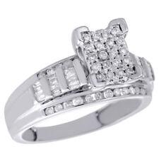 7529ccd37412 Anillos de joyería con diamantes de plata de ley diamante baguette ...