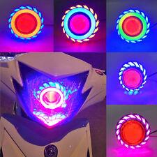 8000K/1200LM Motocycle Headlight Devil Lamp LED Cree Dual Angel Eye Light Bulbs