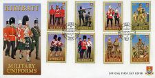Kiribati 2007 FDC Military Uniforms 8v Set Cover US Marine Corps Stamps