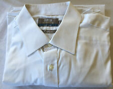 "M&S Tailoring Men's White (Easy Iron 2"" longer) Long Sleeve Shirt, Neck 16"""