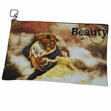 Beauty And The Beast Belle Canvas Heart Zip Purse Cosmetic Wash Bag p14 w0005