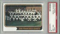 1974 Topps baseball card #281 Team, San Francisco Giants graded PSA 8