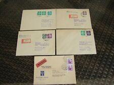 DDR Lot Dienstmarken auf Briefen EF/MeF/MiF 1954-60 5 Stück nach Berlin gelaufen