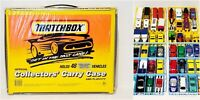 Matchbox Vintage 70s 90s and 2010s Die Cast Cars and Trucks Lot of 48 W/ Case